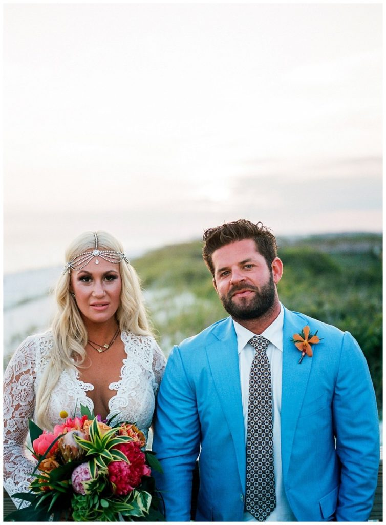 Pure 7 Studios Bohemian Watercolor Wedding Beach Glam