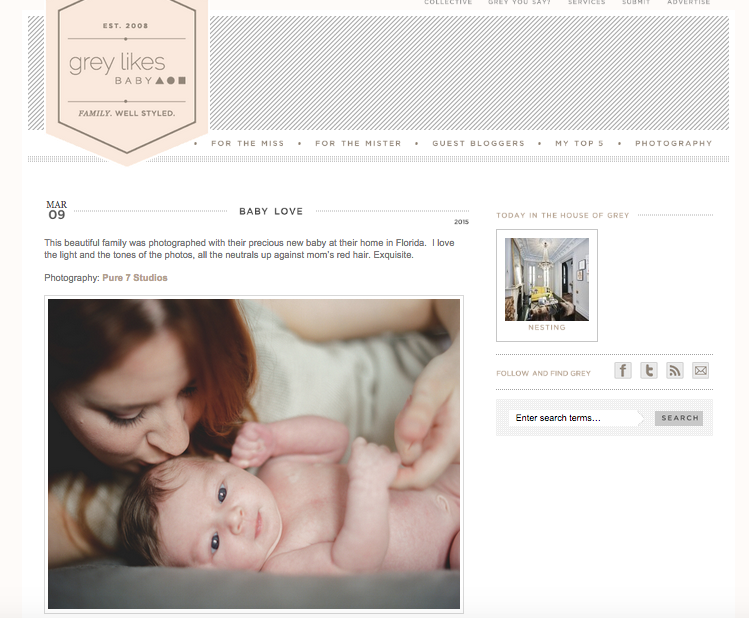 FEATURED FRIDAY | Pure7 Studios Baby Portraits
